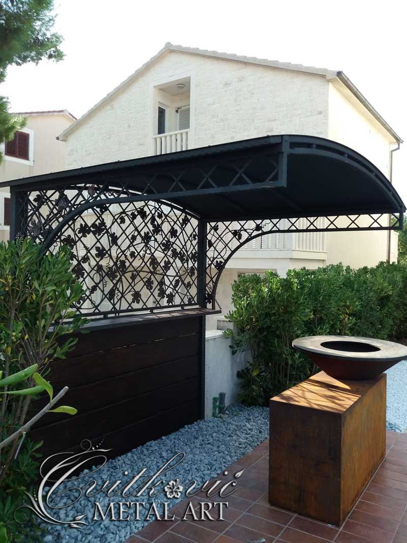 Wrought iron eave